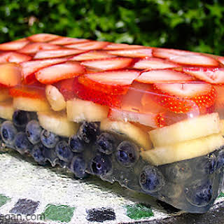 Red, White, and Blue Fruit Terrine.