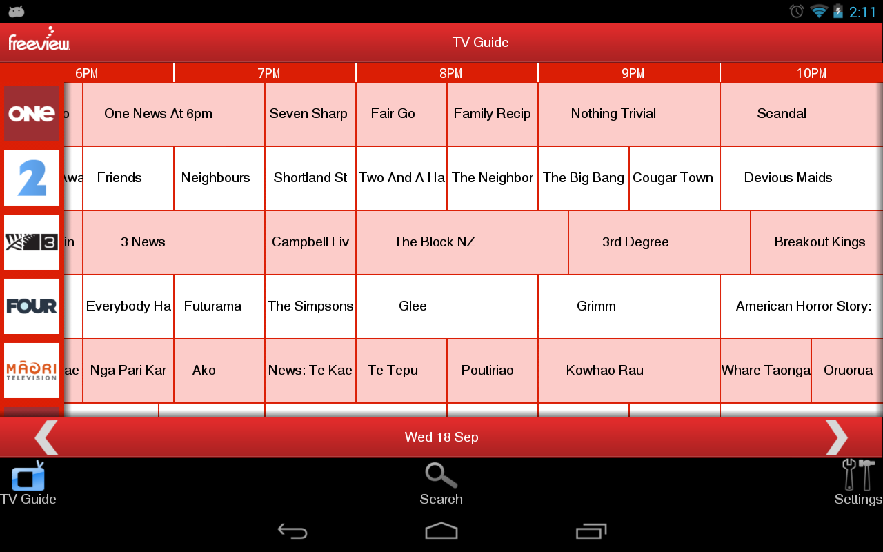 Freeview TV Guide- screenshot