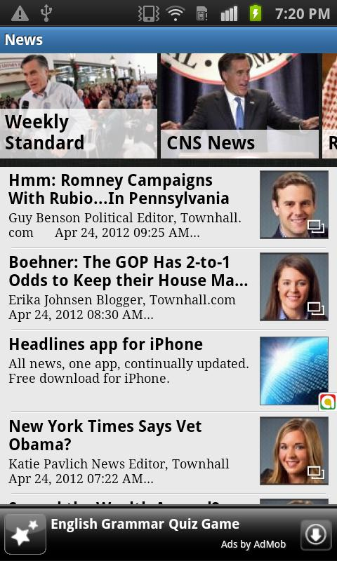 Conservative News Reader - screenshot