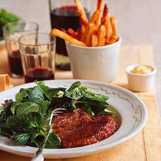 Steak and Oven-Baked Frites.