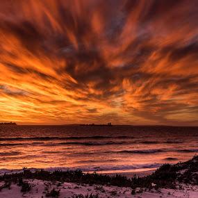 Burning sky by Marleen la Grange - Landscapes Sunsets & Sunrises