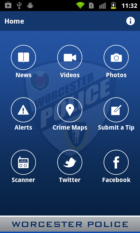 Worcester PD Mobile- screenshot