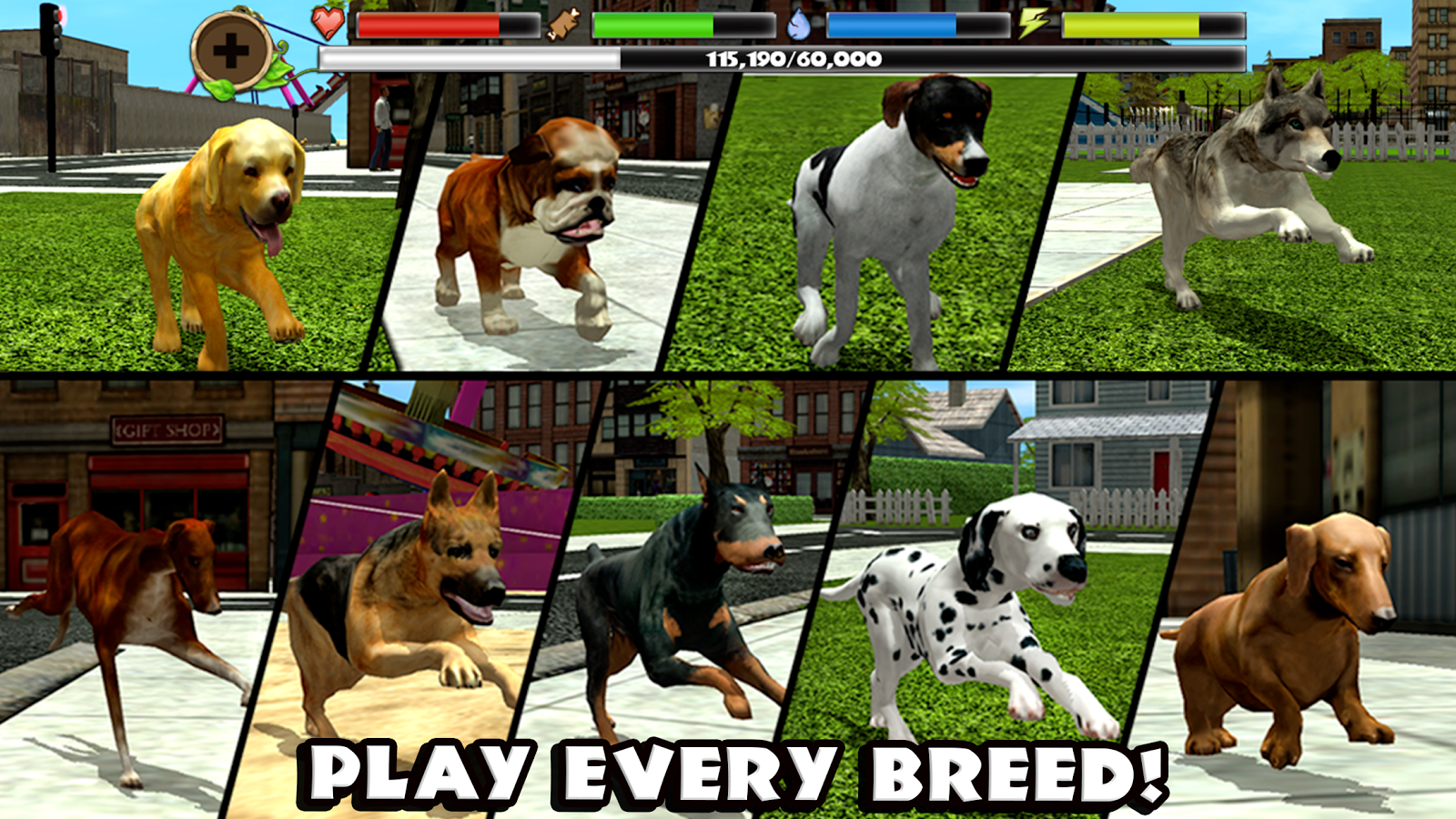 Screenshots of Stray Dog Simulator for iPhone