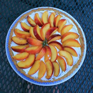 Peach and Goat Cheese Tart with Rosemary Cornmeal Crust