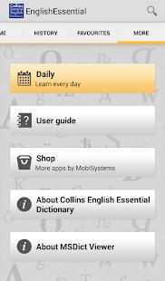 Collins English Essential TR- screenshot thumbnail