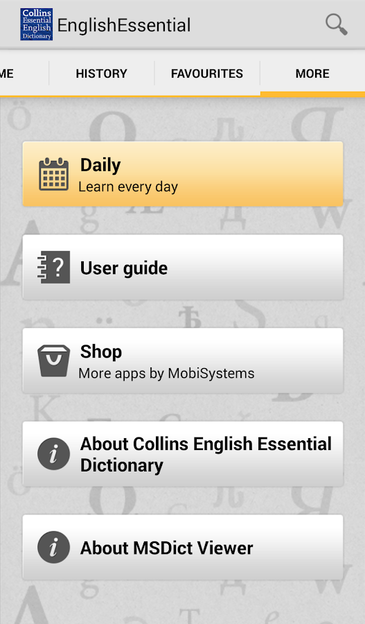 Collins English Essential TR- screenshot