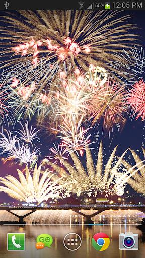 New Year Fireworks LWP (PRO) 1.3.1 screenshots 1