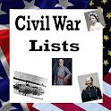 U.S. History Lists - CIVIL WAR