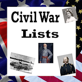 U.S. History Lists - CIVIL WAR