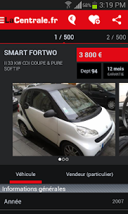 LaCentrale.fr voiture occasion - screenshot thumbnail