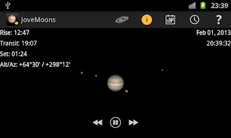 Screenshot of Jupiter Simulator