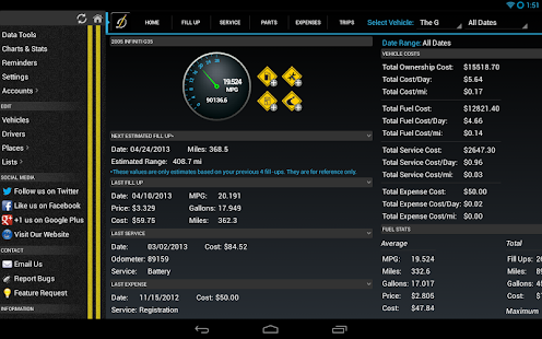 DriverDiary - Gas Mileage Screenshot 17