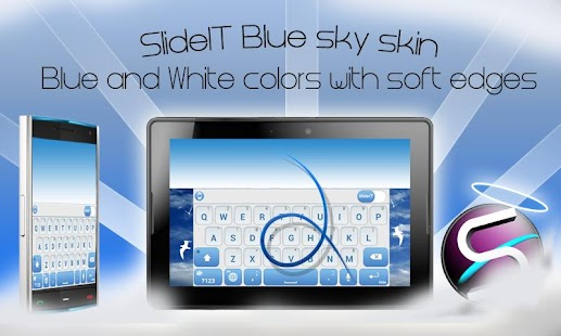 SlideIT Blue Sky Skin- screenshot thumbnail