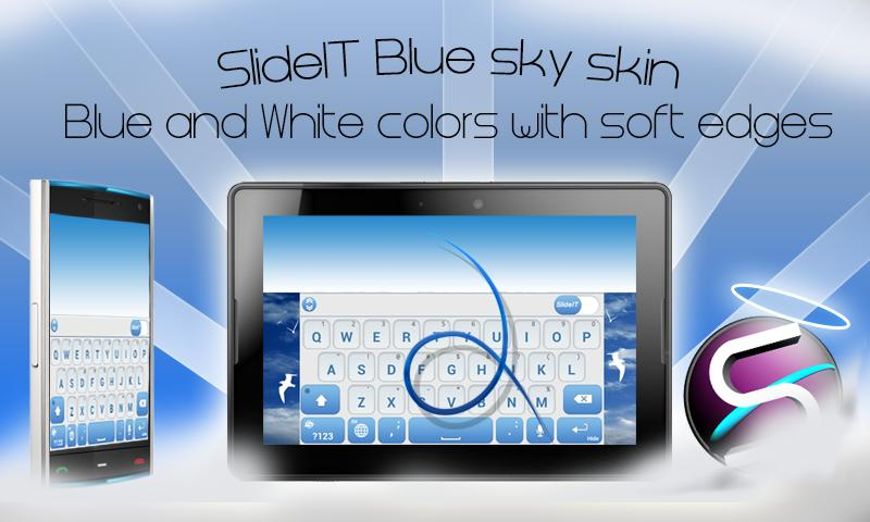 SlideIT Blue Sky Skin - screenshot