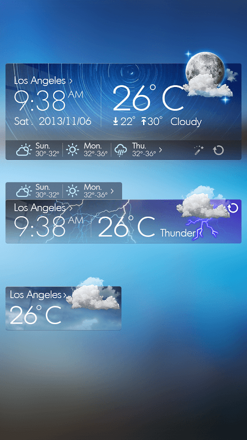 Glass View Theme GOWeather - screenshot