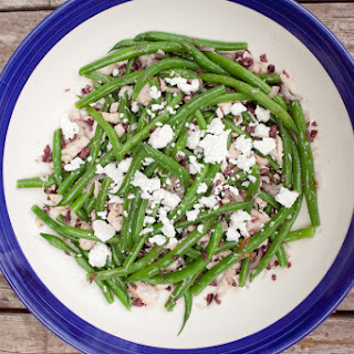 Green Beans with Roasted Chicken, Kalamata Vinaigrette & Pure LuckFeta