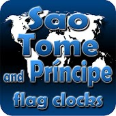 Sao Tome Principe flag clocks