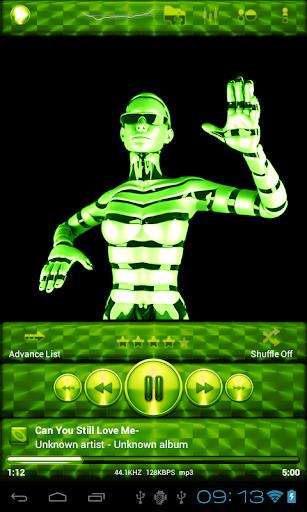 Poweramp Skin 石灰綠色畫筆