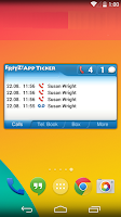 Screenshot of FRITZ!App Ticker Widget