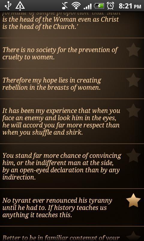Voltairine Quotes - screenshot