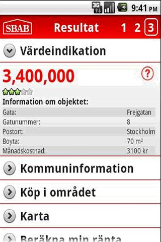 SBAB Värdeguide - screenshot