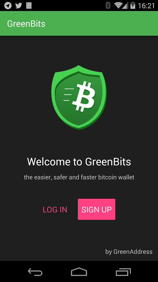 GreenBits Testnet Wallet- screenshot