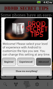 Droid Secret Tips - screenshot thumbnail