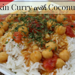 Pumpkin Curry with Coconut Rice.