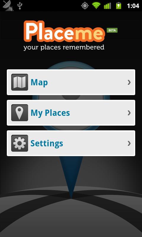 Placeme- screenshot