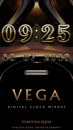 VEGA Digital Clock Widget