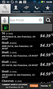 PhoneTell Search & Gas Prices - screenshot thumbnail