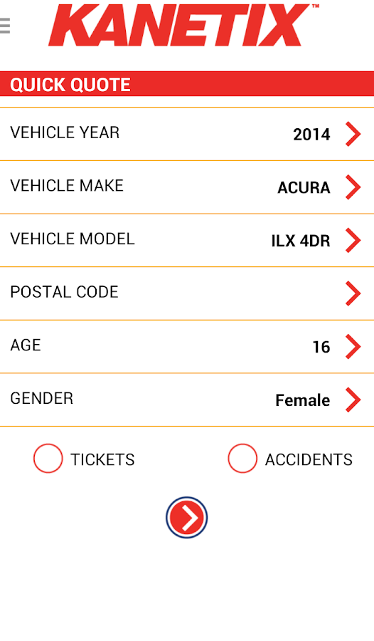 Kanetix Car Insurance- screenshot
