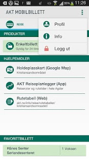 Akt Mobilbillett- screenshot thumbnail