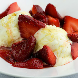 Mascarpone Semifreddo with Strawberries and Black Pepper Honey Recipe