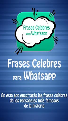 Frases Celebres para Whatsapp