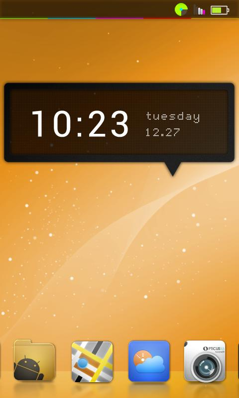 LunarUi (orange) CM7 Theme - screenshot
