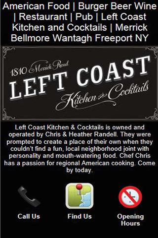 【免費商業App】Left Coast Kitchen & Cocktails-APP點子