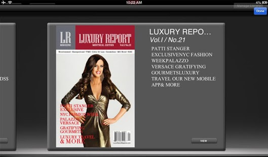Luxury Report Magazine- screenshot thumbnail