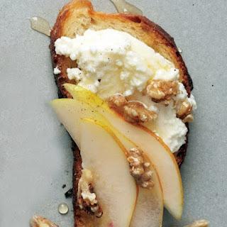 Pear, Walnut, and Ricotta Crostini.