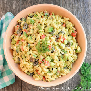 Creamy Avocado Bacon Pasta Salad with Dill Dressing