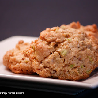 Oatmeal White Chocolate-Pistachio Cookies