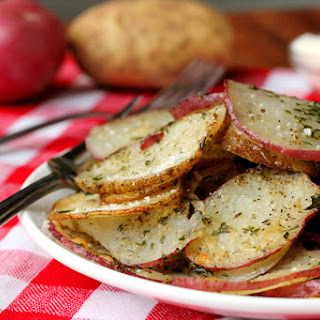 Baked Herb and Parmesan Potato Slices Recipe