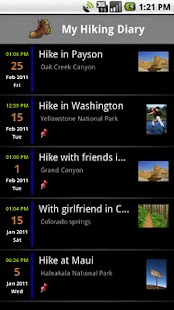Hiking Diary - screenshot thumbnail