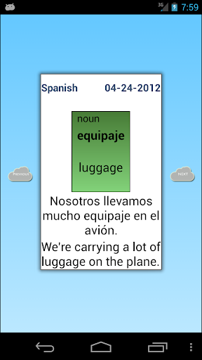 Spanish: Word of the day