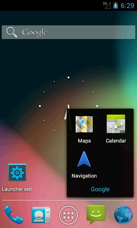 Holo Launcher for ICS- screenshot