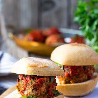 Vegetarian Meatball Sliders with White Beans, Kale & Feta