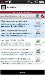 Universidad de Murcia App- screenshot thumbnail