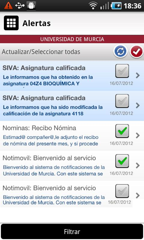 Universidad de Murcia App - screenshot