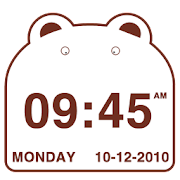 Cute Bear Clock Widget 2.1.2 Icon