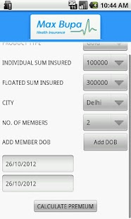 Max Bupa Premium Calculator- screenshot thumbnail